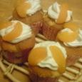 オレンジカップシフォンでBirthday Cake