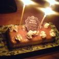 お誕生日プリンケーキ